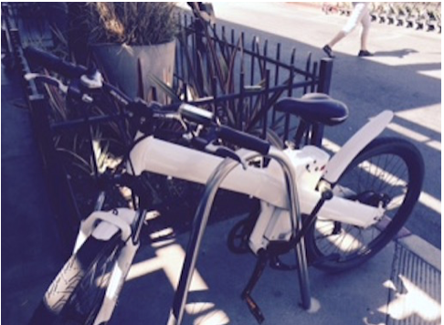An Electric Bicycle in LA