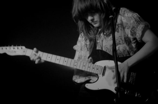 Courtney Barnett performing at GoodGod in 2014 by Sabina Rysnik