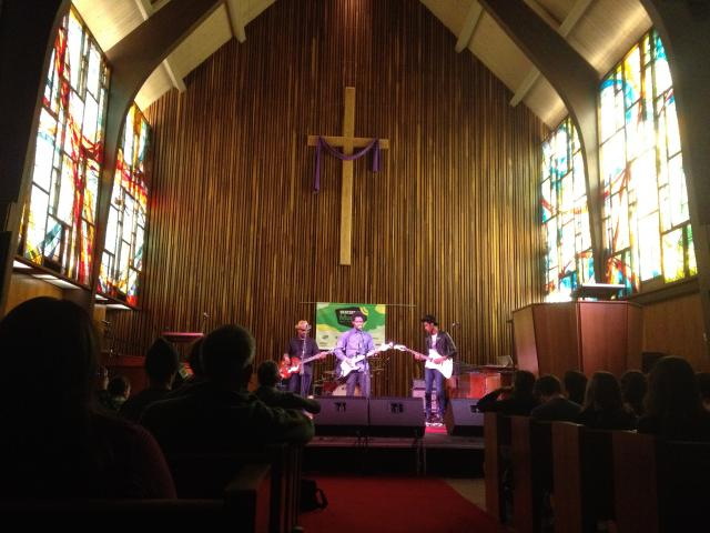 Pictured: Curtis Harding in the Central Presbyterian Church. Photo by Larry Heath.