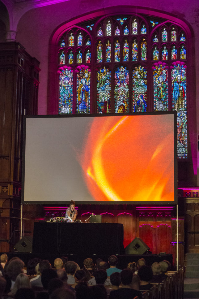 Kaitlyn Aurelia Smith performs at the 2017 Sydney Festival (photo by Jamie Williams/Sydney Festival)